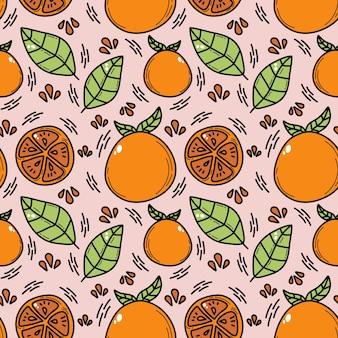 Modèle sans couture orange doddle