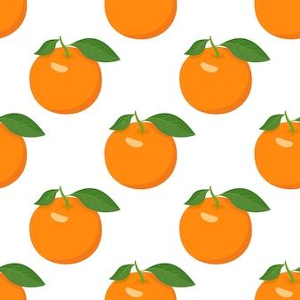 Modèle sans couture avec des oranges et des tranches un ensemble d'agrumes pour un mode de vie sain