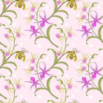 Modèle sans couture d'orchidée.