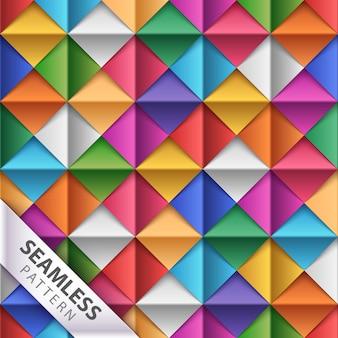 Modèle sans couture origami