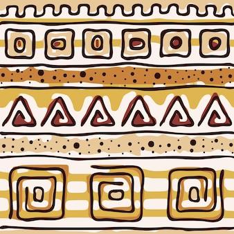 Modèle sans couture, origine ethnique, dessin à la main, dessin vectoriel