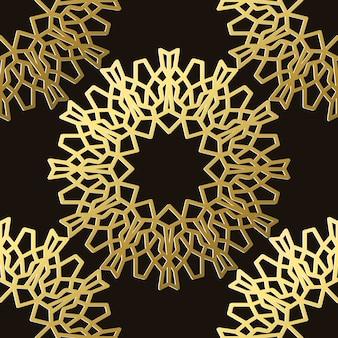 Modèle sans couture d'ornement arabe réaliste pour la décoration et la couverture sur le fond sombre. concept de motif oriental et de culture.