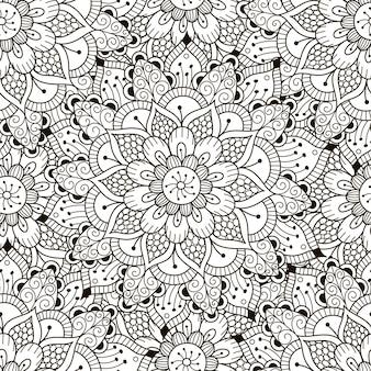 Modèle sans couture d'ornement floral