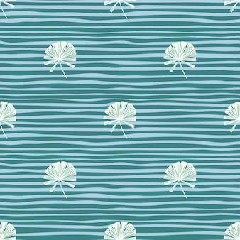 Modèle sans couture d'ornement licuala palm minimaliste blanc