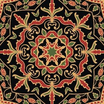 Modèle sans couture d'ornement oriental coloré de mandalas.