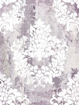 Modèle sans couture d'ornement vintage. design de luxe texture baroque rococo. décors textiles royaux.