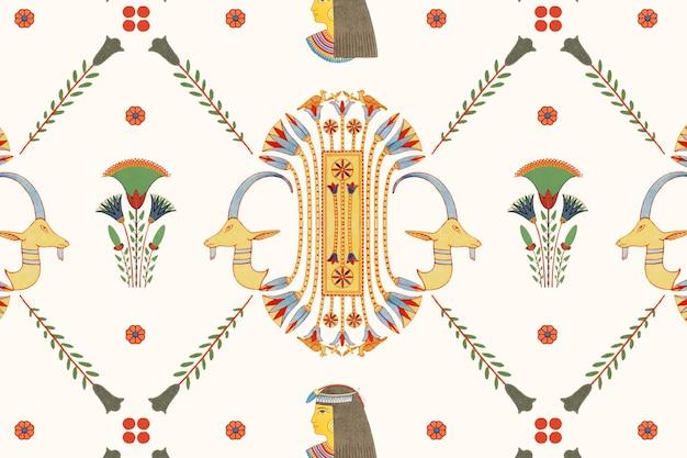 Modèle sans couture ornementale égyptienne