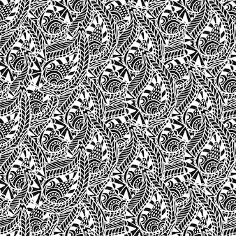 Modèle sans couture ornementale. texture de vecteur noir et blanc.