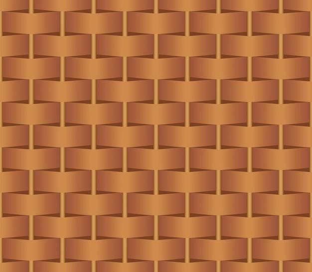 Modèle sans couture en osier marron