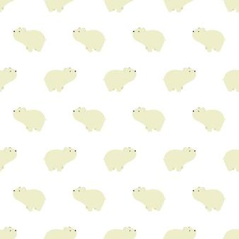 Modèle sans couture avec des ours polaires mignons dans un style cartoon simple.
