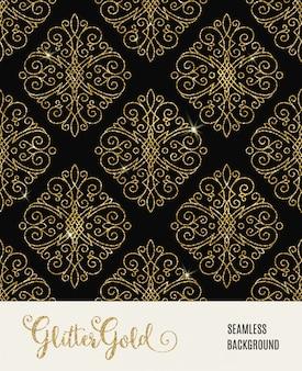 Modèle sans couture de paillettes dorées.