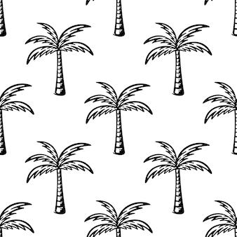 Modèle sans couture avec palmier noir