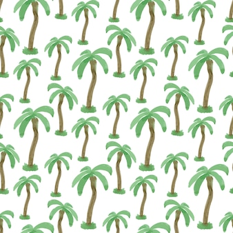Modèle sans couture avec palmiers aquarelles. texture vecteur impression sans fin. voyage de fond tropical.