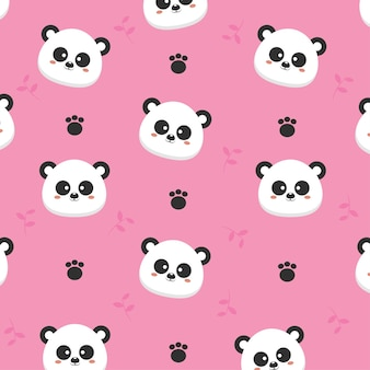 Modèle sans couture de panda