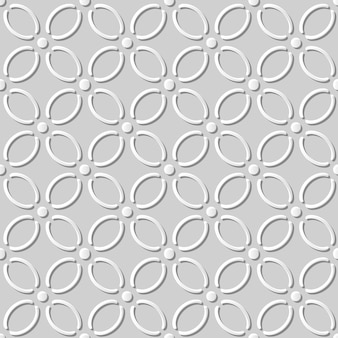 Modèle sans couture papier blanc 3d coupe art fond courbe ligne croisée fleur