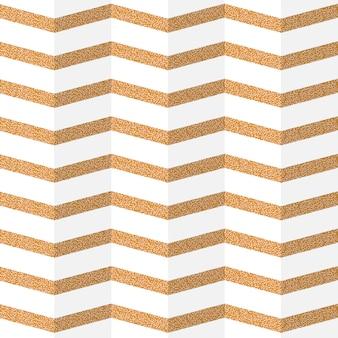 Modèle sans couture de papier zig zag doré