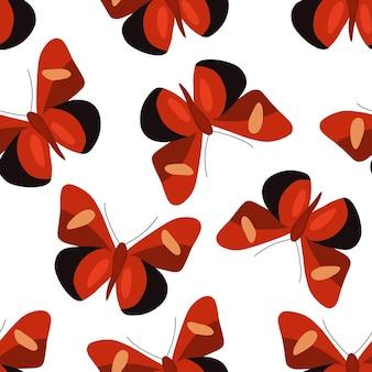 Modèle sans couture avec des papillons colorés illustration vectorielle dans un style plat