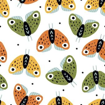 Modèle sans couture de papillons