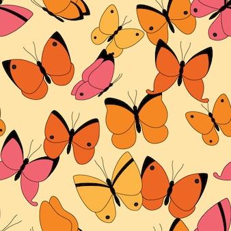 Modèle sans couture avec des papillons