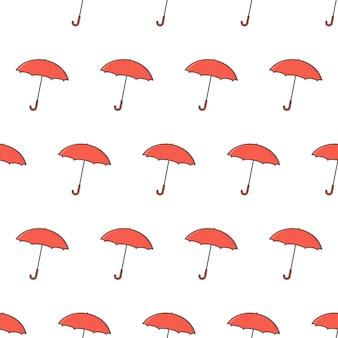 Modèle sans couture de parapluie sur un fond blanc. illustration vectorielle de thème parapluie