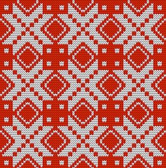 Modèle sans couture parfait tricoté nordique. passez simplement à swatches et profitez-en. et comprend également