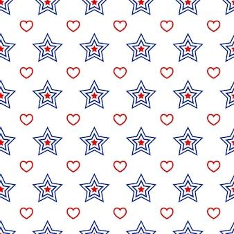 Modèle sans couture patriotique américain dans les couleurs nationales américaines