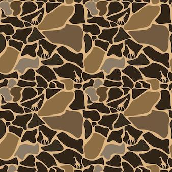 Modèle sans couture de peau de girafe, fond animal, ornement tribal, fond de vecteur.