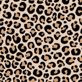 Modèle sans couture de peau de léopard à la main dessin illustration de style