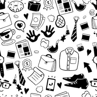Modèle sans couture père heureux doodles