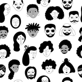 Un modèle sans couture de personnes multiculturelles