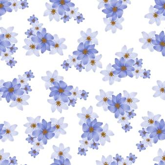 Modèle sans couture de pétale de fleur violet et blanc pour la conception de tissu
