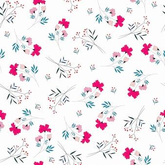 Modèle sans couture de petite fleur rose mignon