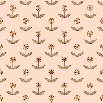 Modèle sans couture avec petites fleurs décoratives