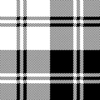 Modèle sans couture de pixel blanc noir classique à carreaux