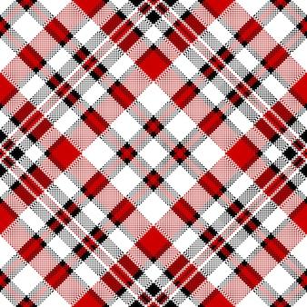 Modèle sans couture de pixel carré blanc contrôle diagonale rouge