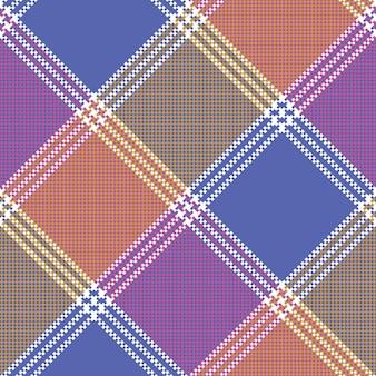 Modèle sans couture pixel mosaïque couleur plaid
