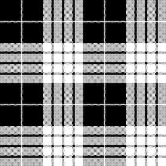 Modèle sans couture de pixel tartan blanc noir cameron