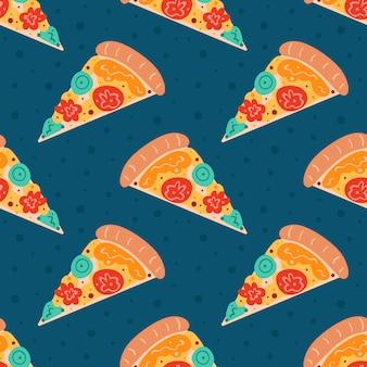 Modèle sans couture de pizza savoureuse