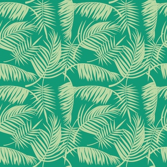 Modèle sans couture de plage de vecteur avec des feuilles de palmier tropical