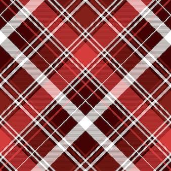 Modèle sans couture plaid abstrait diagonale rouge