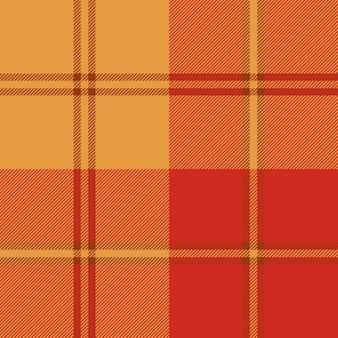 Modèle sans couture de plaid de couleur chaude automne
