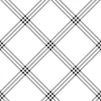 Modèle sans couture plaid de couleur noir blanc