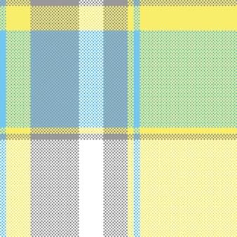 Modèle sans couture de plaid de pixel de vérification de couleur abstrait lite