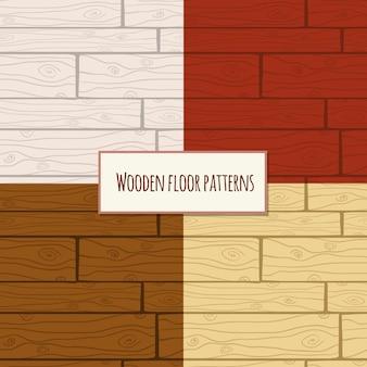 Modèle sans couture de plancher en bois