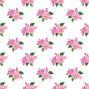 Modèle sans couture avec plante feuille fleur botanique