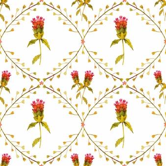 Modèle sans couture de plantes sauvages meadow