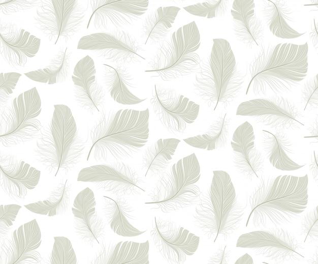 Modèle sans couture de plume