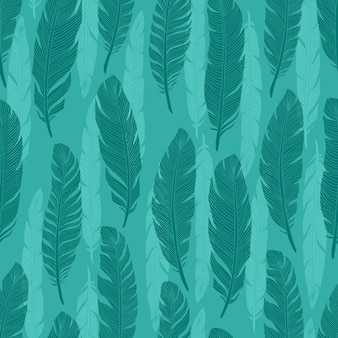 Modèle sans couture de plumes d'oiseaux colorés abstraits