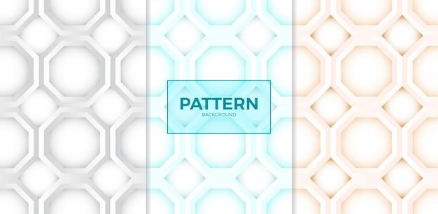 Modèle sans couture de polygone hexagonal de style papier