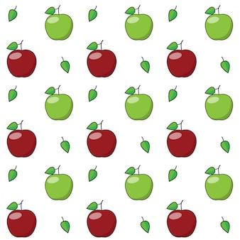 Modèle sans couture de pomme.